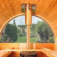 Wolff Finnhaus Aufschlag für Halbrundglas Ø 235 cm für Saunafässer