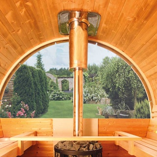 Wolff Finnhaus Aufschlag für Halbrundglas Ø 205 cm für Saunafässer