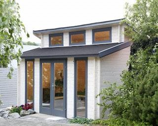 Wolff Finnhaus Blockbohlenhaus Langeoog 40 isolierverglast inkl. gratis Fundamentanker/Pads