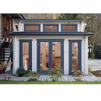 Wolff Finnhaus Langeoog 58-C isolierverglast Gartenhaus inkl. gratis Fundamentanker/Pads