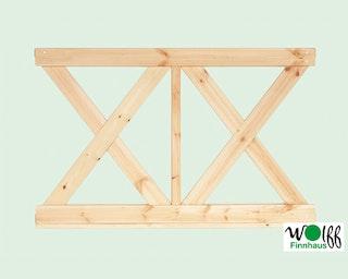 Wolff Finnhaus Wandelement X klein für Pavillon Kreta 8 Grundbauset