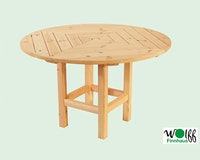 Wolff Finnhaus runder Tisch für Pavillon Kreta 6, Kreta 8, Palma, Lugano und Ibiza