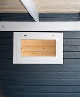 Wolff Finnhaus Einzel-Fenster weiß zum Öffnen 75,5 x 45,5 cm