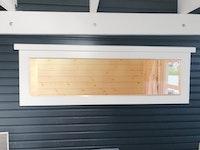 Wolff Finnhaus Einzel-Fenster weiß feststehend 26,5 x 100 cm