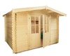 Wolff Finnhaus Gartenhaus Gerätehaus Lyon A/B/C - Aktionsmodell- inkl. gratis Fundamentanker/Pads