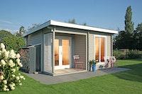 Wolff Finnhaus Gartenhaus Cordoba 44-B Modern isolierverglast inkl. gratis Fundamentanker/Pads