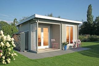Wolff Finnhaus Gartenhaus Cordoba 44-A Modern isolierverglast inkl. gratis Fundamentanker/Pads
