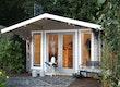 Wolff Finnhaus Gartenhaus Hammerfest 70-F isolierverglast inkl. gratis Fundamentanker/Pads
