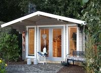 Wolff Finnhaus Gartenhaus Hammerfest 70-D isolierverglast inkl. gratis Fundamentanker/Pads