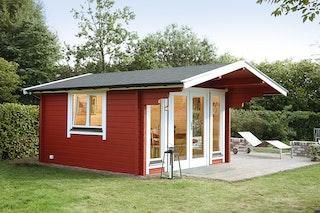 Wolff Finnhaus Gartenhaus Hammerfest 70-D isolierverglast XL inkl. gratis Fundamentanker/Pads