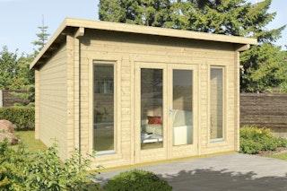 Wolff Finnhaus Gartenhaus Trondheim 70-A isolierverglast XL inkl. gratis Fundamentanker/Pads