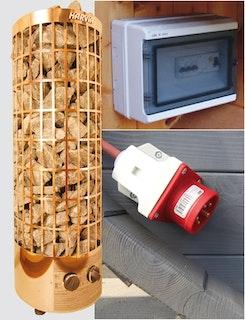 Wolff Finnhaus Saunaofen 9 kW für Saunafässer