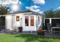 Wolff Finnhaus Gartenhaus Anna 40-A/1 & 2-Raum Sparset inkl. Dachschindeln